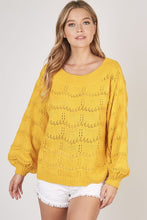 In the Sun Open Knit Sweater