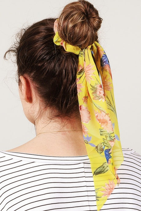 Bloom Hair Scarf – Lemon