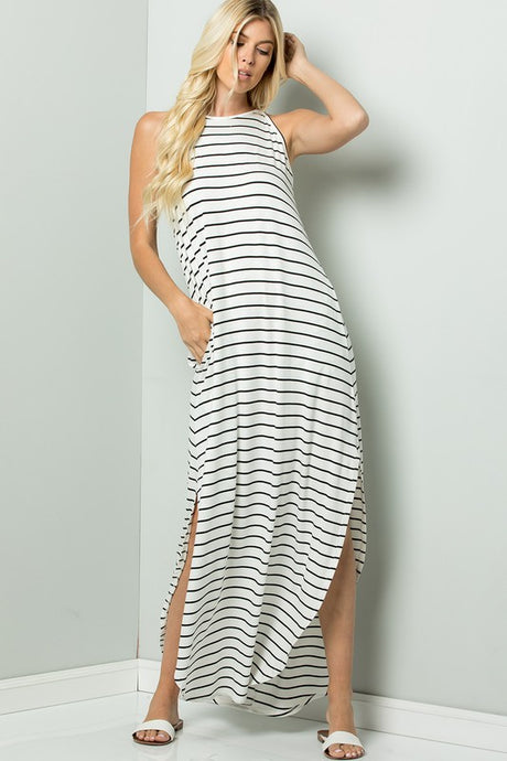 Samantha Stripe Jersey Maxi Dress