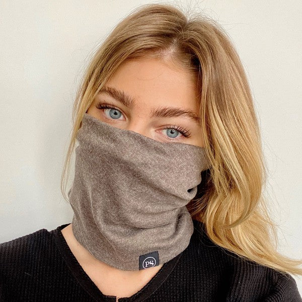Mask Up Neck Scarf - Mocha