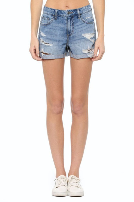 Jones Mid Rise Denim Short