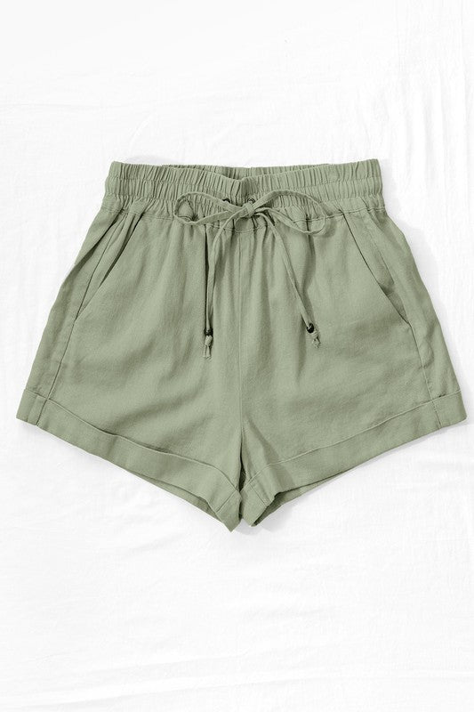 Easy Breezy Shorts - Olive