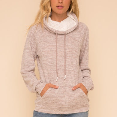 Shelby Sherpa Drawstring Pullover