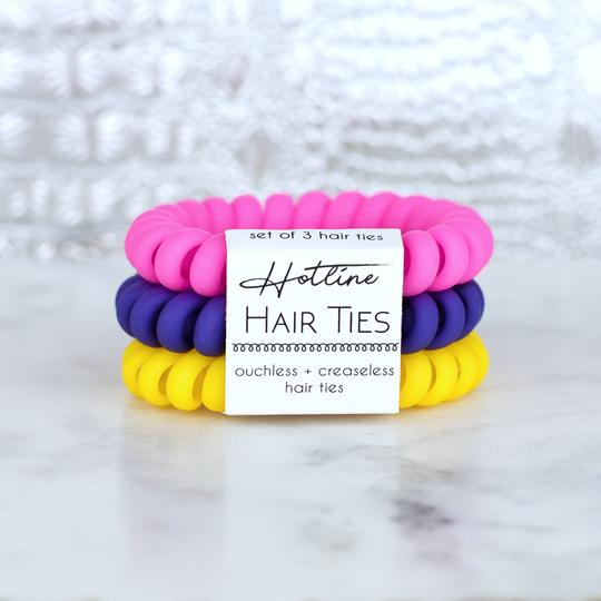 No Damage Hair Ties - Flower Power Matte Set