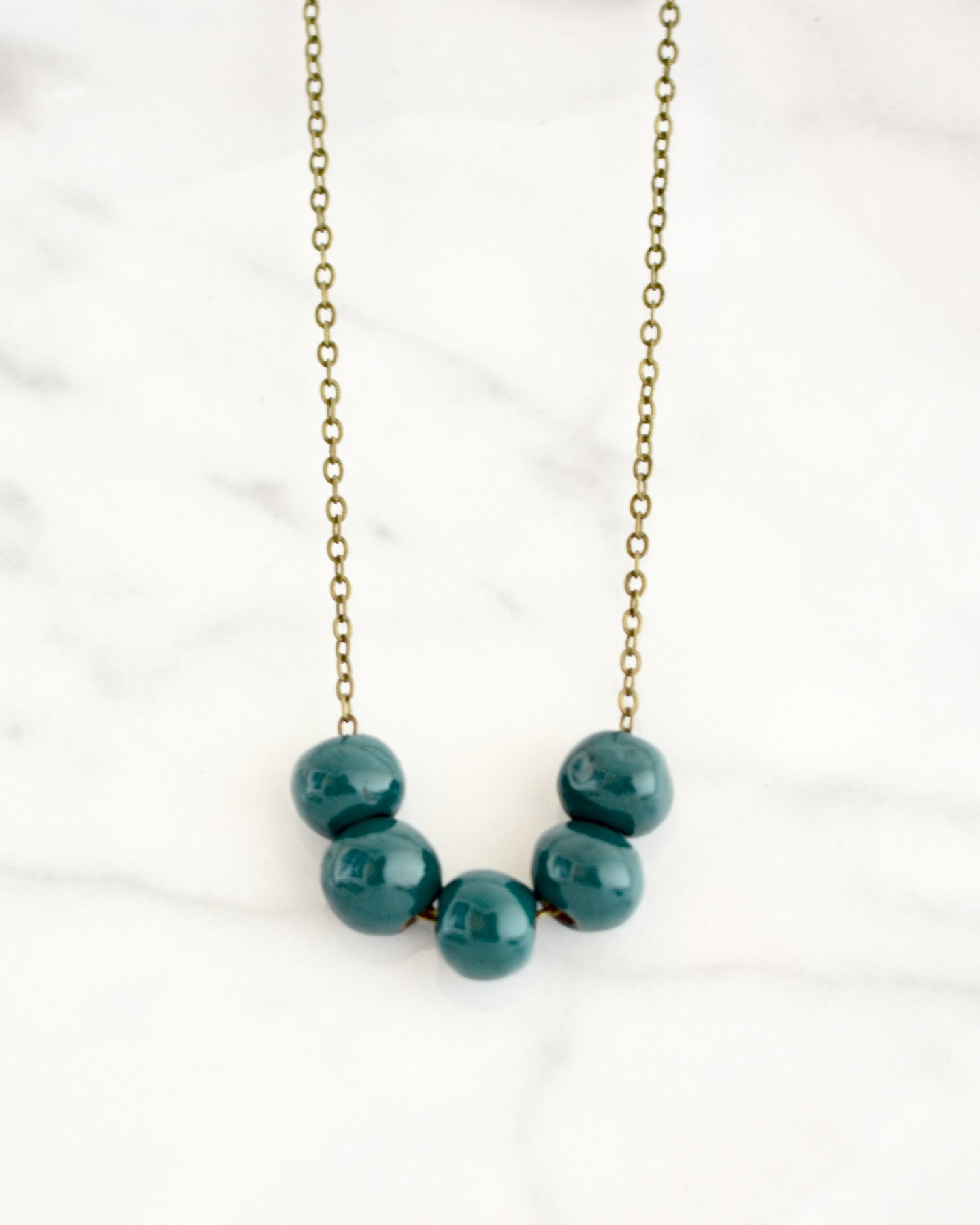 Poppy Necklace - Teal