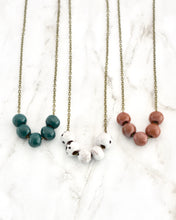 Poppy Necklace - White Speck