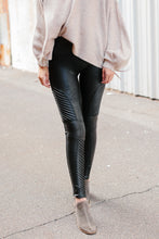Spanx Faux Leather Moto Leggings - Very Black