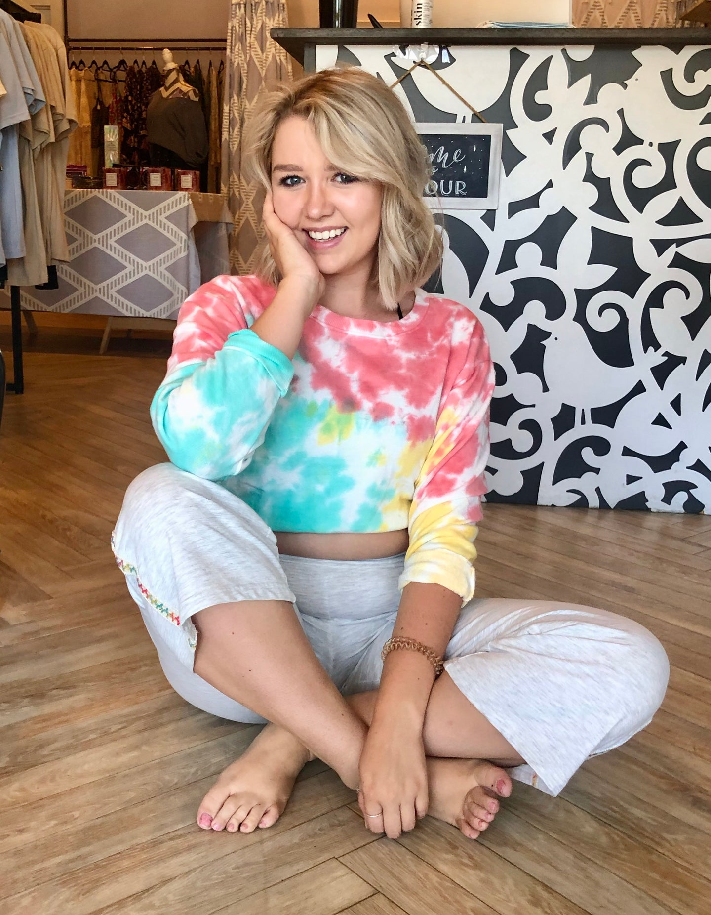 Mara Tie Dye Drop Shoulder Sweatshirt