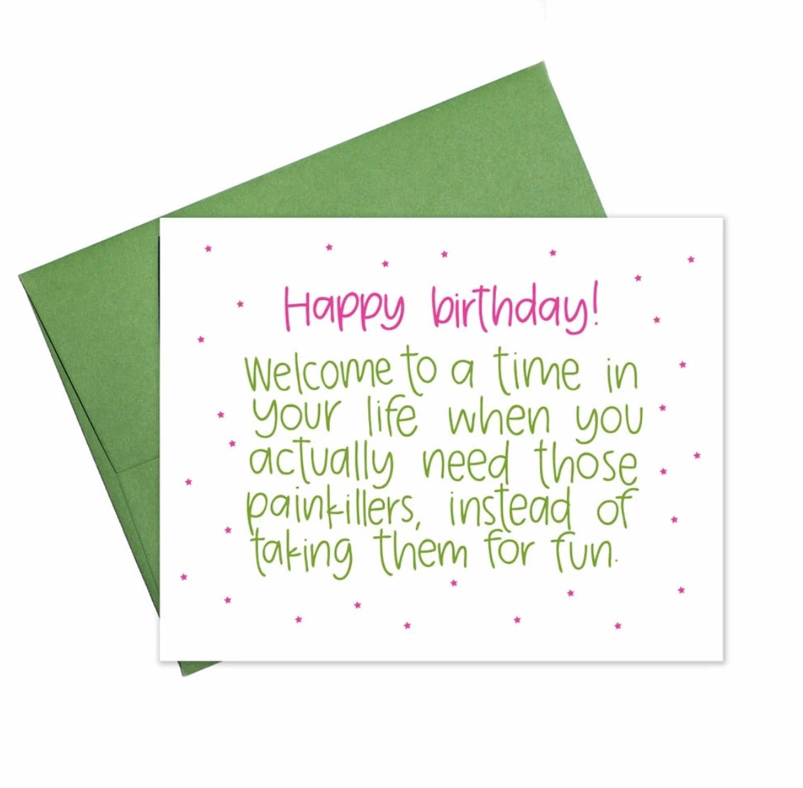 Painkillers Happy Birthday Card