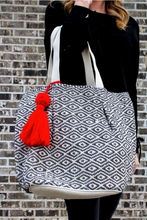 Eye Spy Woven Bag with Tassel