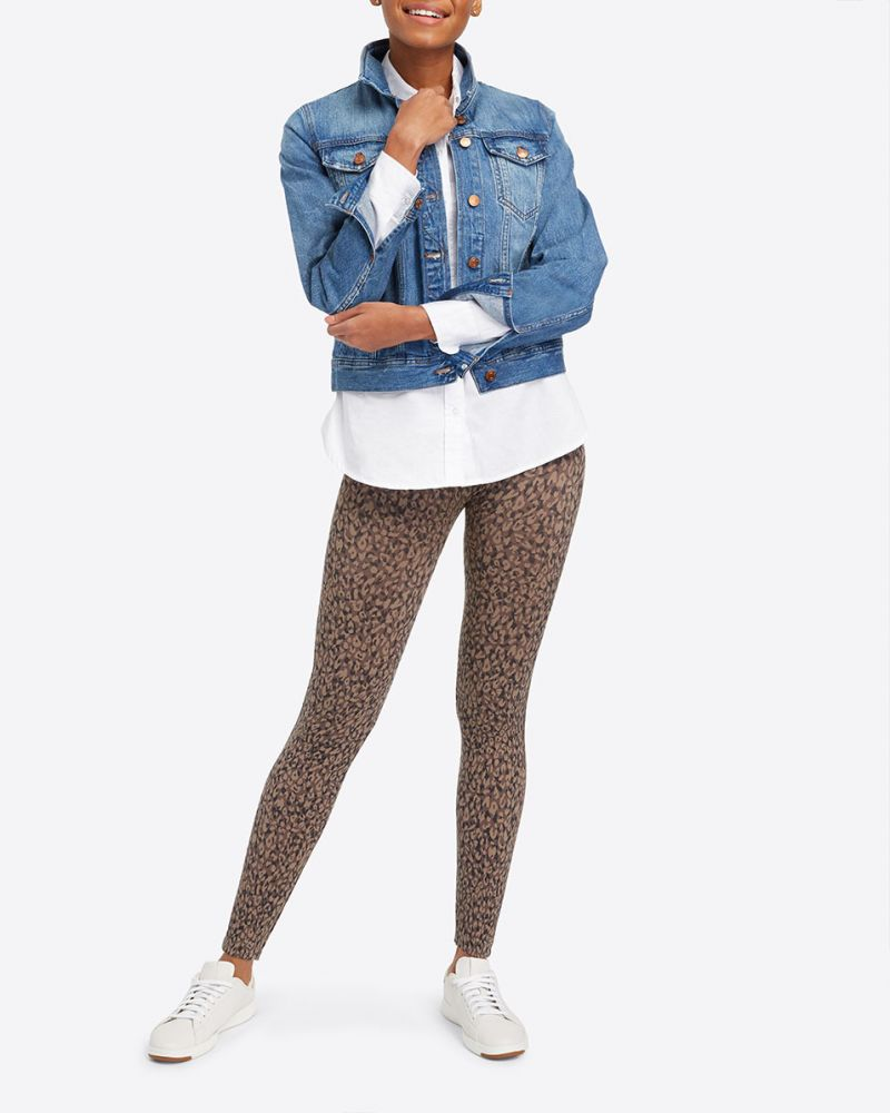 Spanx Look At Me Now Seamless Mini Leopard Leggings