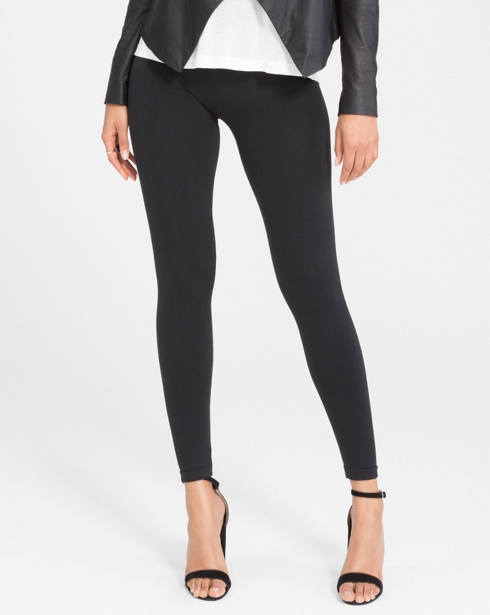 Spanx Look at Me Now Leggings - Very Black
