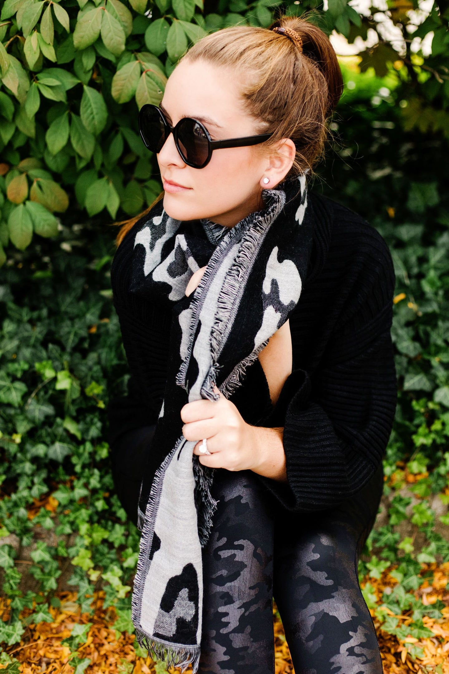 Winter Wonderland Leopard Scarf
