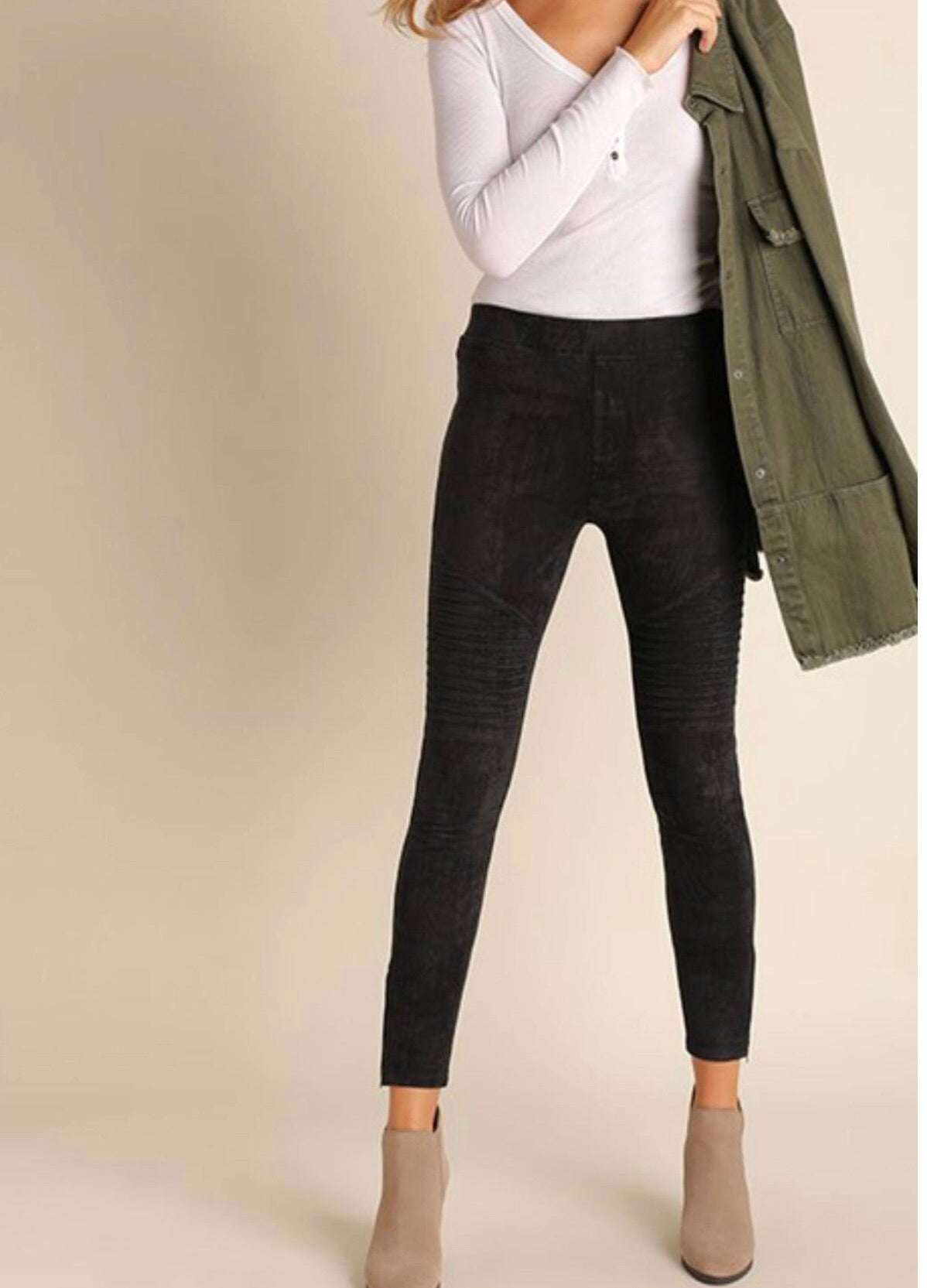 Summit Faux Suede Moto Legging
