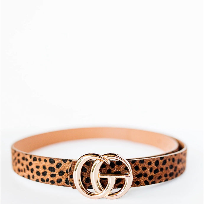 Girlie Leopard Belt - Brown