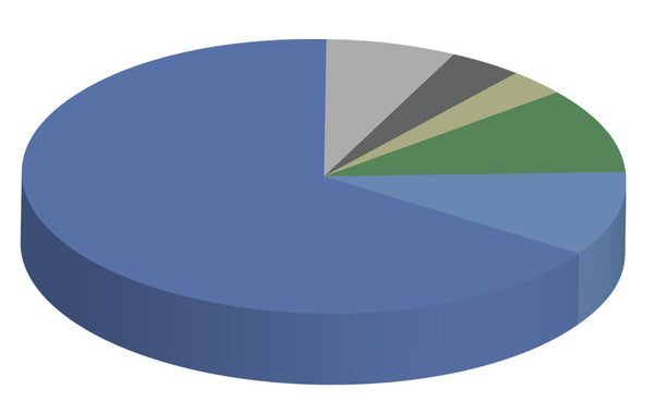 pie chart showing percentages of the Handbook Users Business Classifications