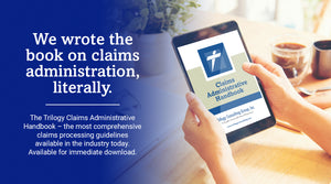 woman holding handbook-click image to learn more about Trilogy Claims Administrative Handbook