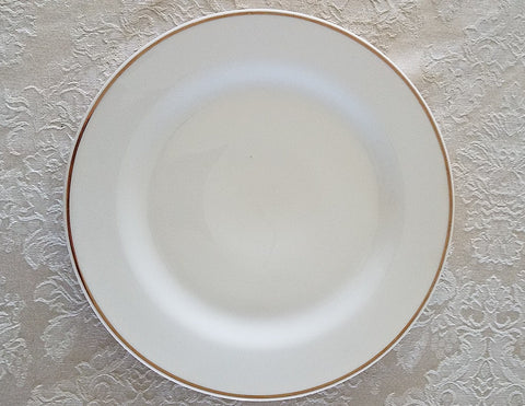 Dinnerware, white with gold dinner, dessert plate, salad bowl