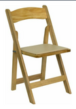 Chair, wood slat back with padded seat