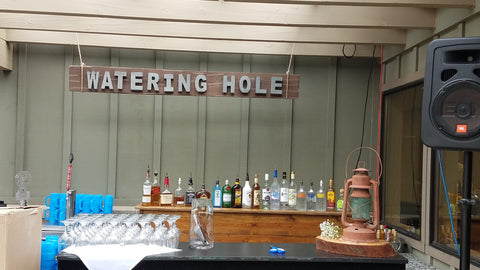 "Bar, Western ""Watering Hole"" sign"