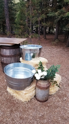 Beverage ice tubs, troughs