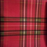 Linen, Red Tartan Plaid Table Linen