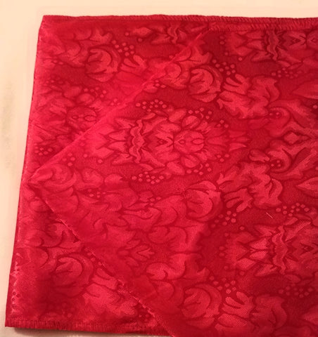 Linen, Red Satin Table Runner