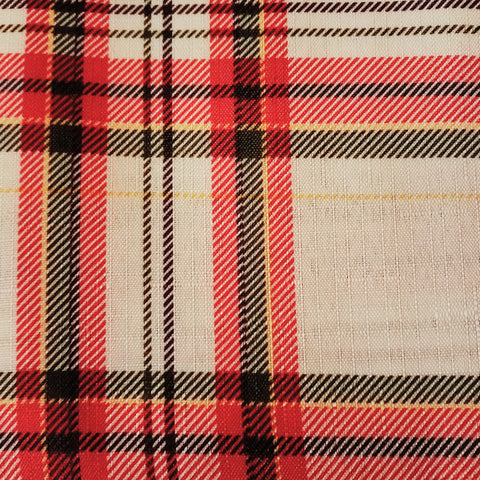 Linen, Tarten White Plaid