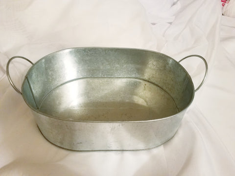 Galvanized oval tray