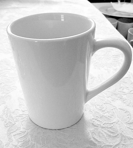 Glassware classic white coffee mug