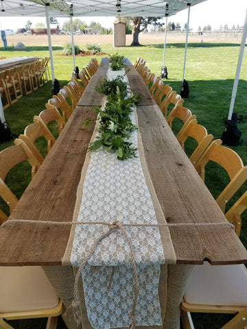 Linen, Lace Table Runner