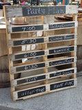 Wood Pallet Chalkboard Sign
