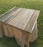 Table, Authentic Barnwood Table Top Square