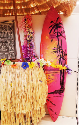Hawaiian Surfboard Decor