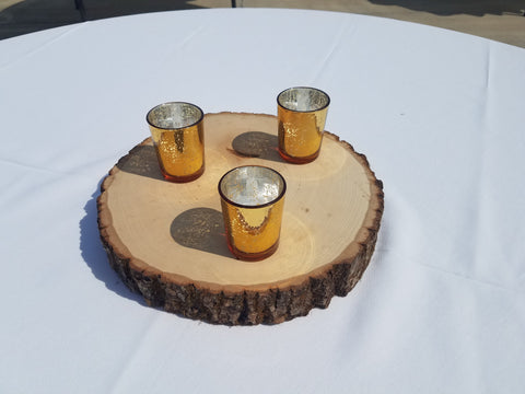 Wood Rounds Premium with Votives