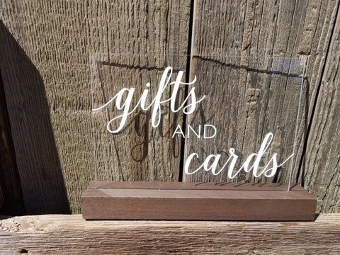 Sign, Gifts and Cards