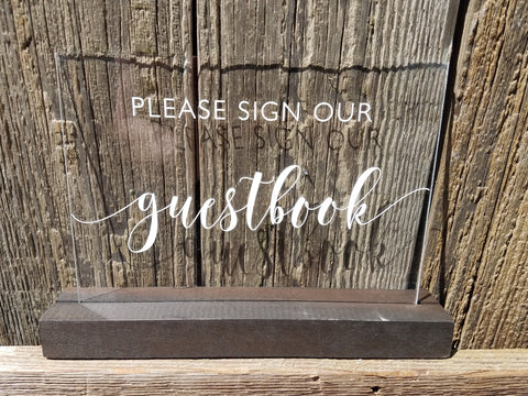 Sign, Please sign our guestbook