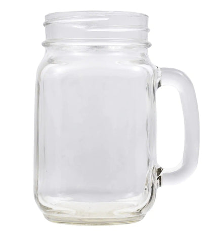 Glassware, country jar mug