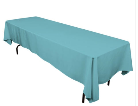 Linen, turquoise rectangle