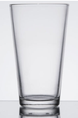 Glassware, pint beverage 16 oz.