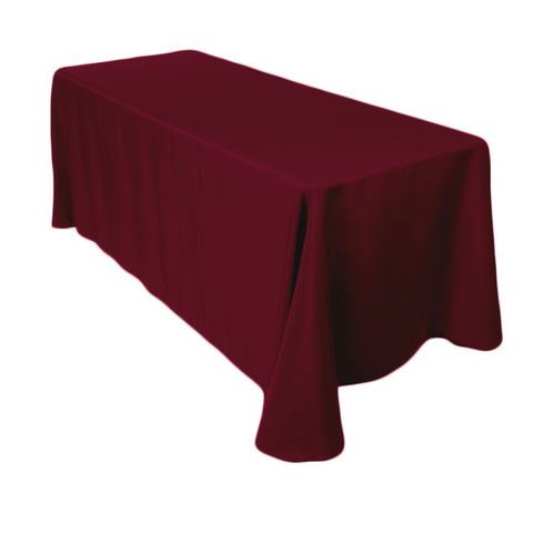 "Linen, burgundy, 90"" x 132"" rectangle"