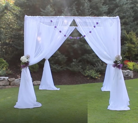 Arbor, Chuppah with Sheer Fabric