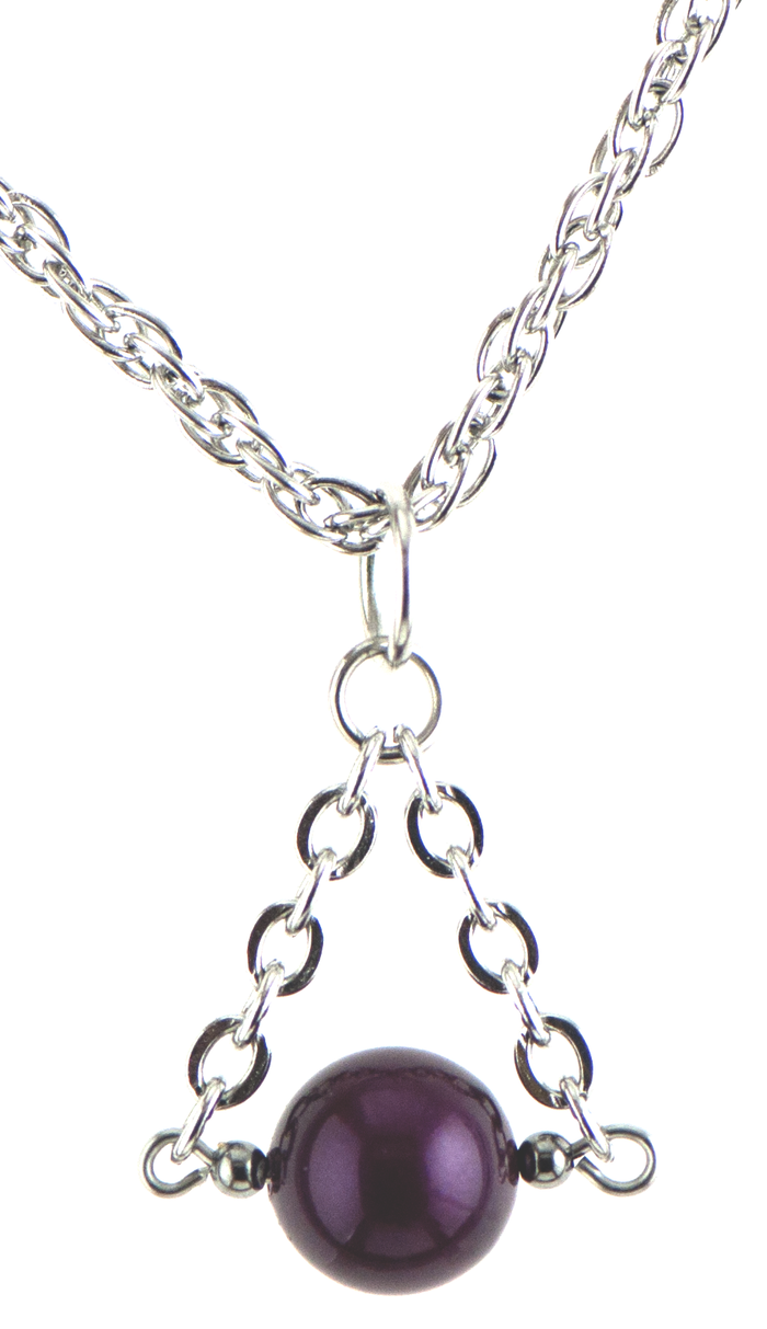 Christie Necklace in Silver (Blackberry)