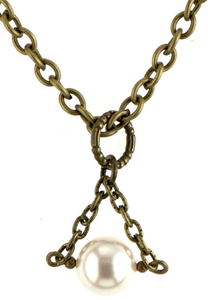 Christie Necklace in Bronze (Cream)
