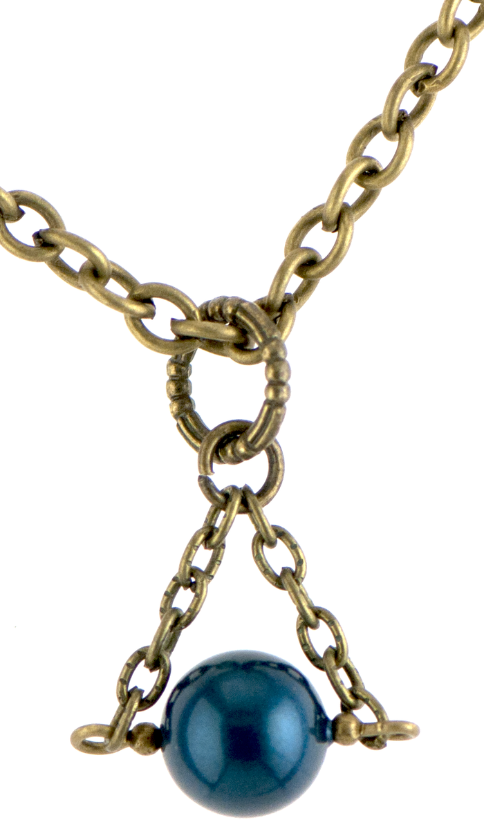 Christie Necklace in Bronze (Tahitian Blue)