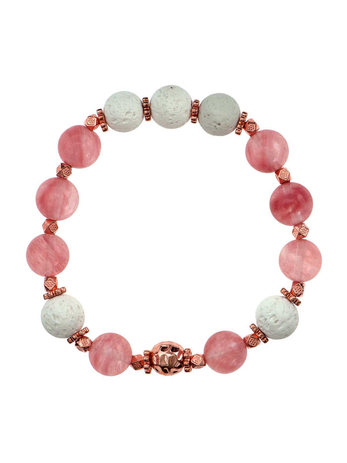 "Cherry ""Quartz"" 10 mm Diffuser Bracelet"