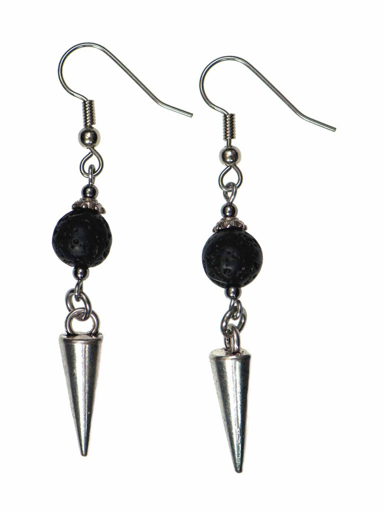 Lava & Spike Drop Diffuser Earrings