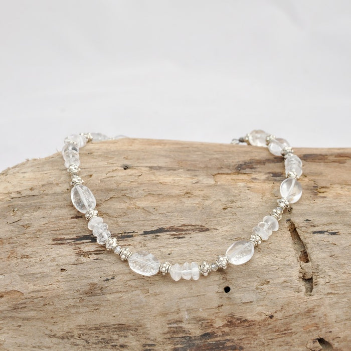 Whitney Anklet (Quartz and Swarovski Crystal)
