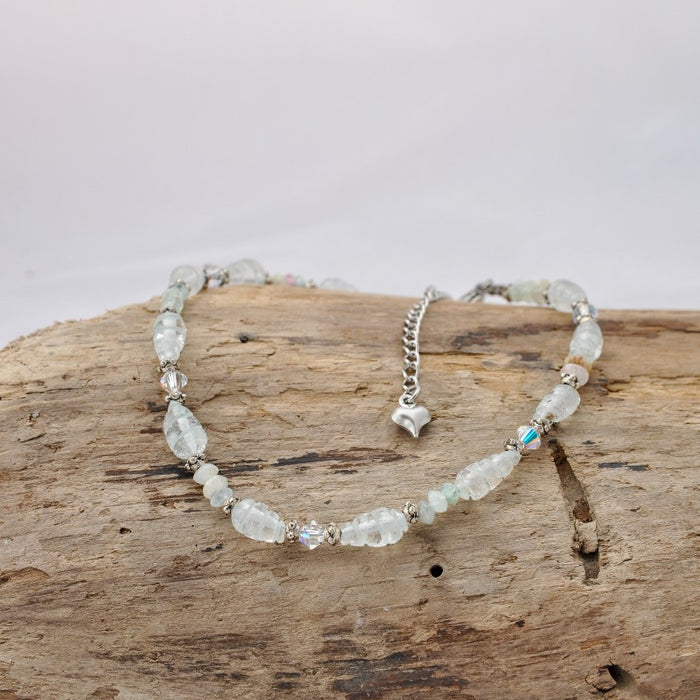 Alex Anklet (Aquamarine and Swarovski Crystal)
