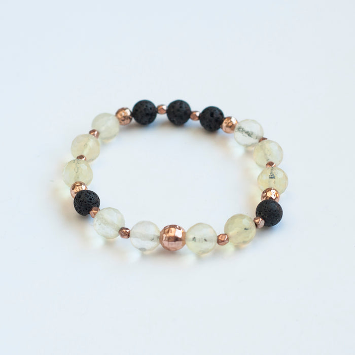 "Pineapple ""Quartz"" Glass Diffuser Bracelet"